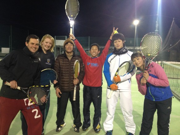 Tennis with Taishi and friends in Nagano