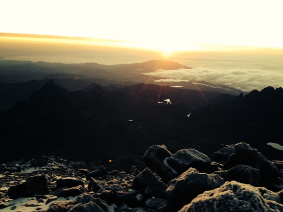 Sunrise on Mt. Kenya